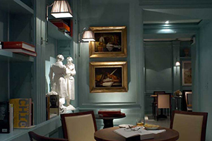 Library & Lobby - Stendhal Hotel - Quirinale, Rome, ITALY