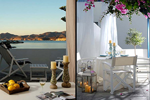 Terrace - Kapetan Tasos Suites - Milos, Cyclades Islands, GREECE