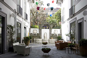Courtyard - Hotel Piazza Bellini - Naples, Campania, ITALY