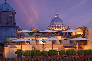 Terrace - Hotel Raphael Relais & Chateaux - Navona, Rome, ITALY