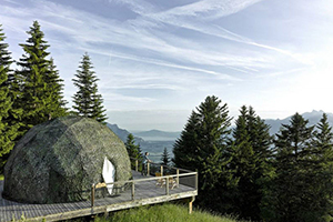 Exterior of the Pod - Whitepod - Les Giettes, Wallis, SCHWEIZ