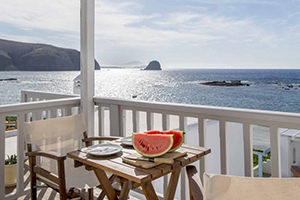 Balcony - Nefeli Sunset Studios - Milos, Cyclades Islands, GREECE