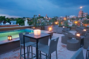Pool And Lounge - Nena Hotel Boutique - San Miguel de Allende, Guanajuato, MEXICO