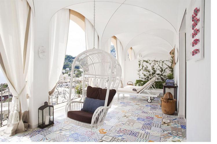 Terrace - Capri Tiberio Palace - Capri, Ischia und Procida