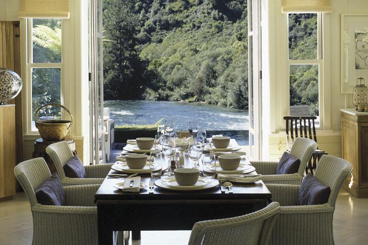 Dining Room - Huka Lodge - Taupo