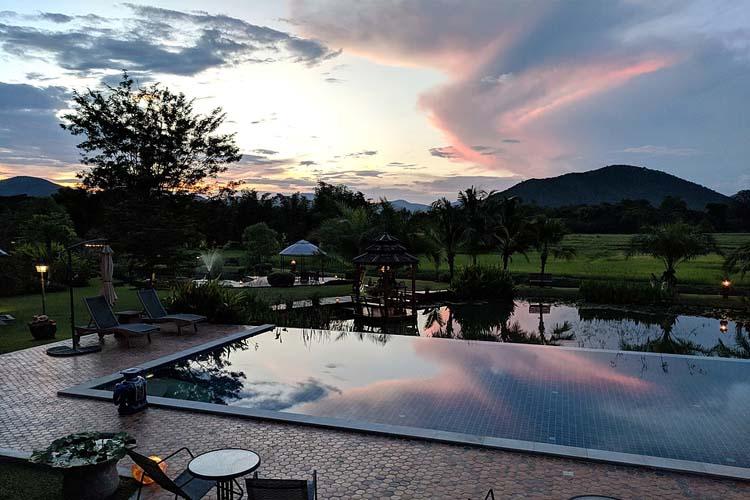 Sunset at Rice and Zen - Rice and Zen Boutique Resort - Doi Saket
