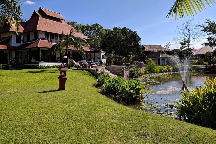 The resort terrace view - Rice and Zen Boutique Resort - Doi Saket