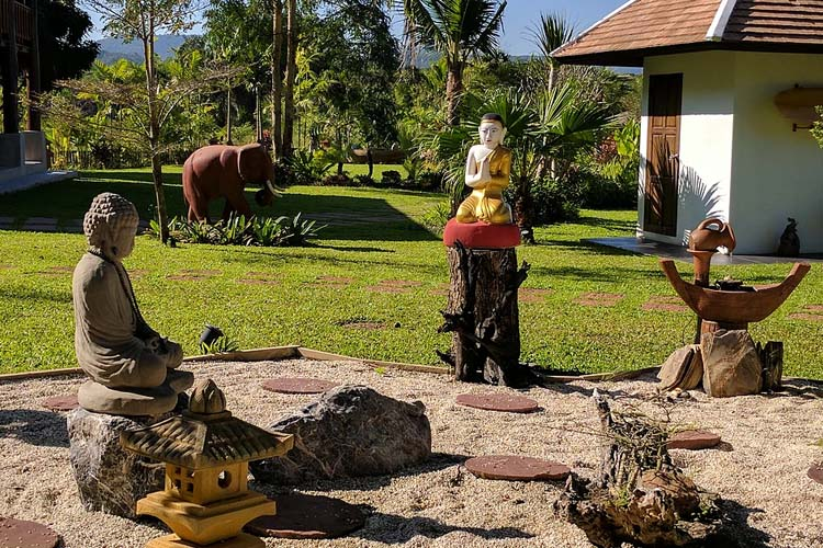 Zen Garden - Rice and Zen Boutique Resort - Doi Saket