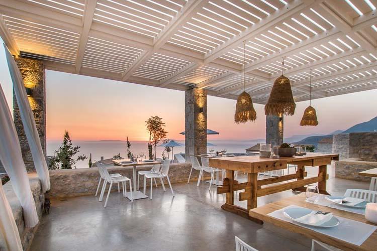 Terrace - BASSA MAINA Villas & Suites - Areopoli