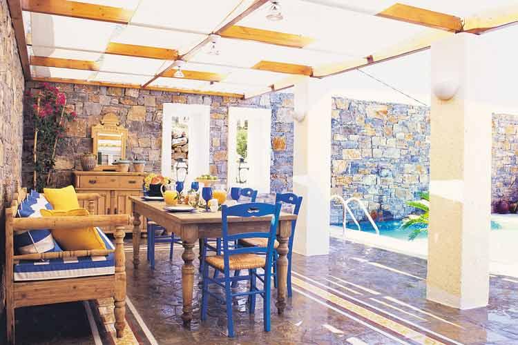 Elounda-Egean Villas. Porch - Elounda Gulf Villas & Suites - Elounda
