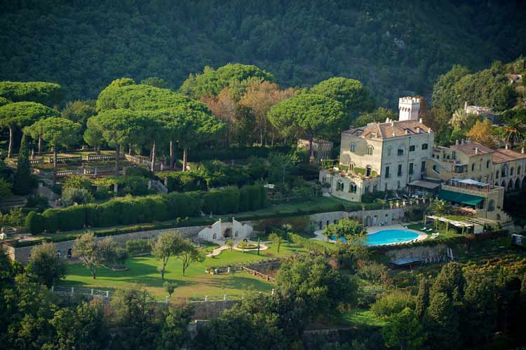 Aerial View - Villa Cimbrone - Costa Amalfitana