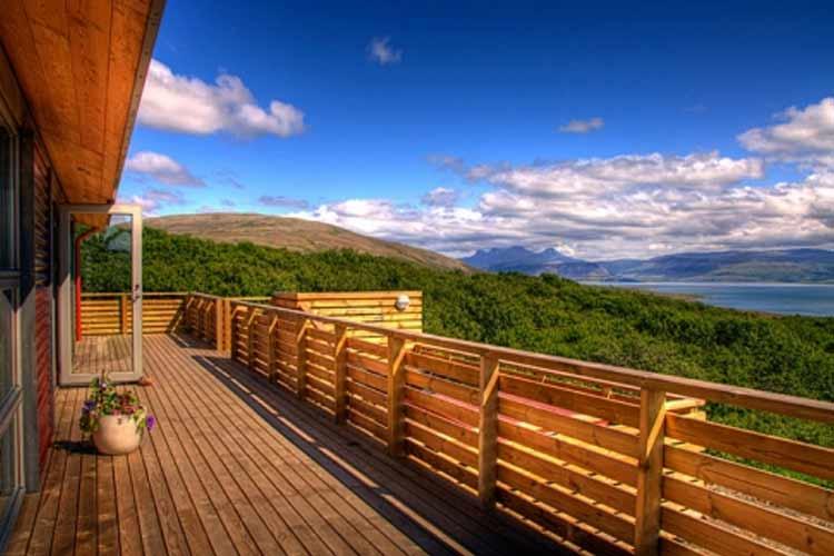 Terrace - Hotel Glymur - Hvalfjordur