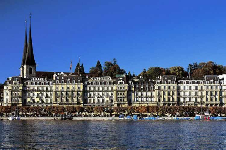 Facade - Grand Hotel National Luzern - Luzern