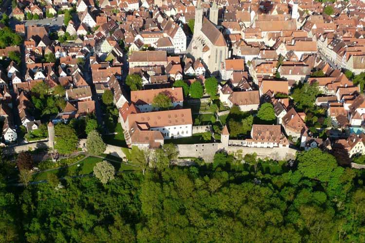 Aerial View - Burg-Hotel - Rothenburg ob der Tauber