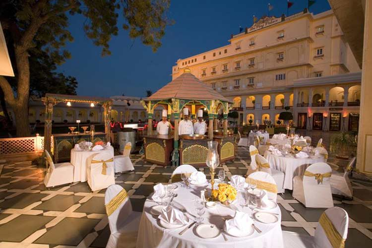 Evening Dining Outside - The Raj Palace - Jaipur