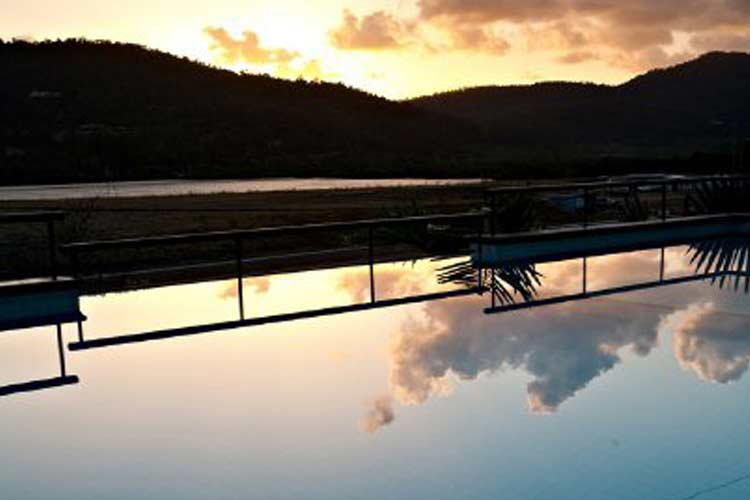 Pool Sunset View - at Waterfront Whitsunday Retreat - Airlie Beach