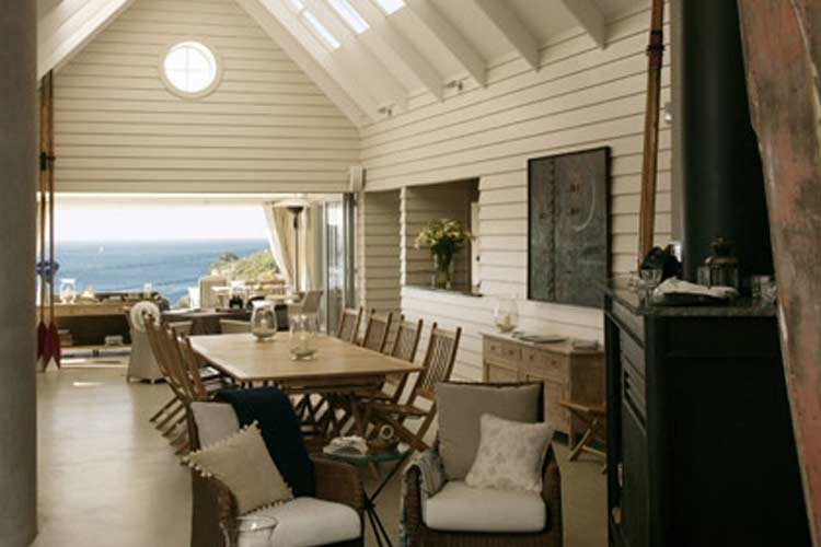 Main Dining Room From Fire - The Boatshed - Little Oneroa Waiheke Island
