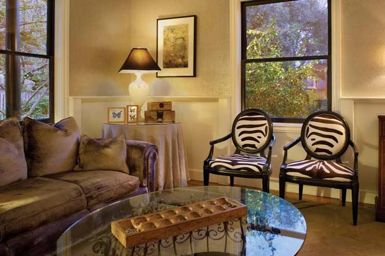 Front Sitting Room - Gaige House - Glen Ellen