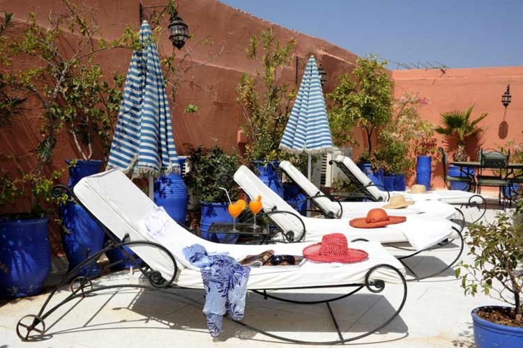 Sunny and Secluded Roof Terrace - Riad Shaden - Marrakech
