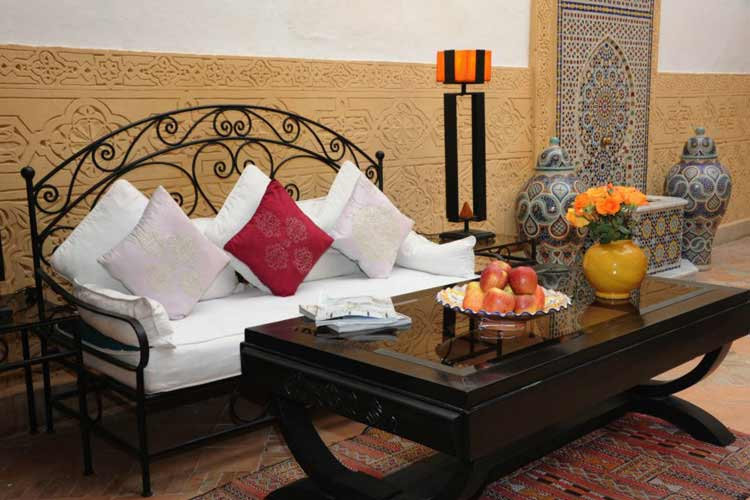 Seating Area in our Courtyard - Riad Shaden - Marrakech
