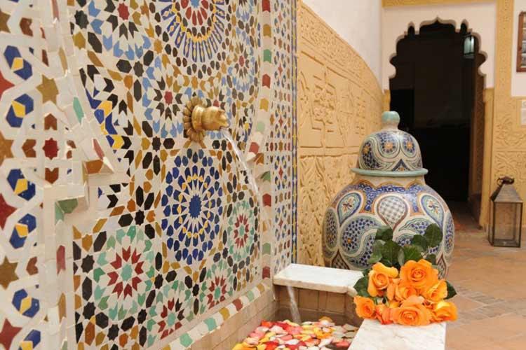 Traditional Moroccan Fountain - Riad Shaden - Marrakech