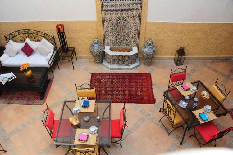 Spacious Central Courtyard - Riad Shaden - Marrakech