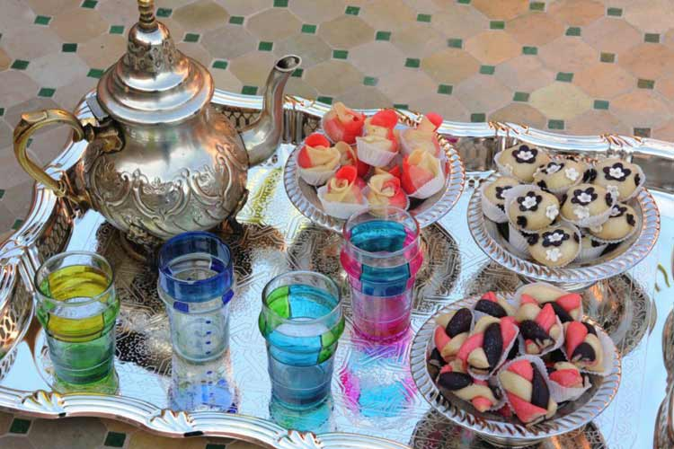 Mint Tea and Home Made Pastries - Riad Shaden - Marrakech
