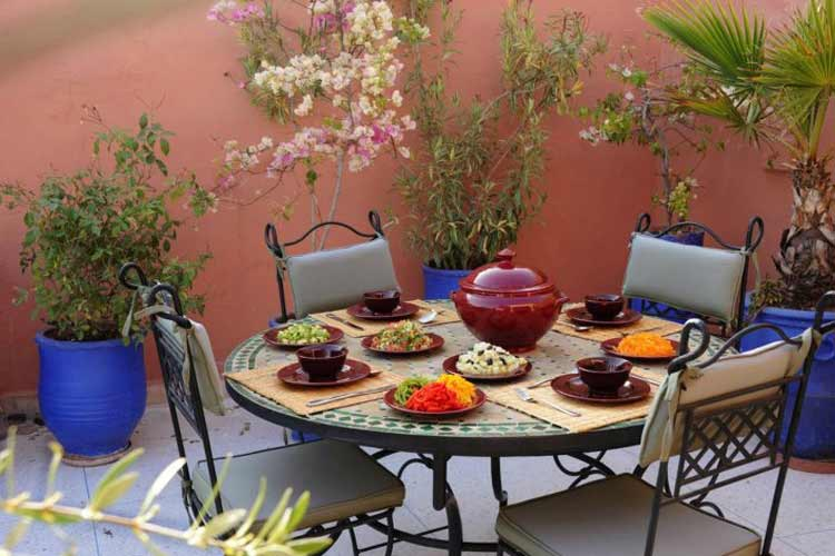 Dinner on the Roof Terrace - Riad Shaden - Marrakech