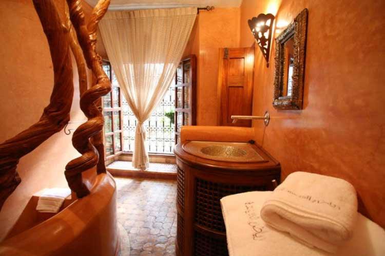 Orange Suite Bathroom - Riad Laaroussa - Fes
