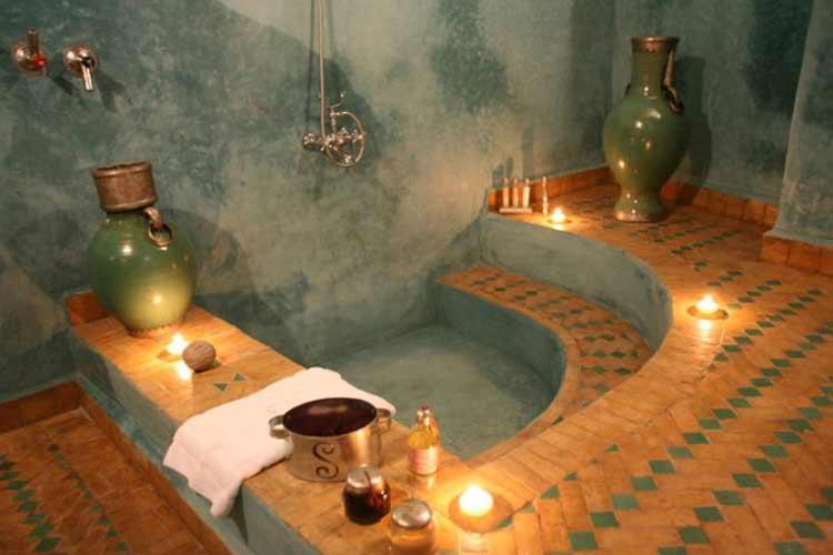 Green Suite Bathroom - Riad Laaroussa - Fes