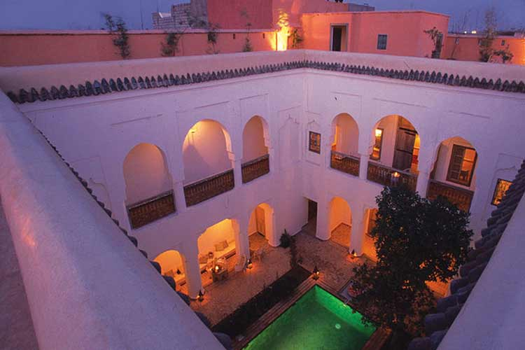 The Patio at Night - Riyad el Mezouar - Marrakech