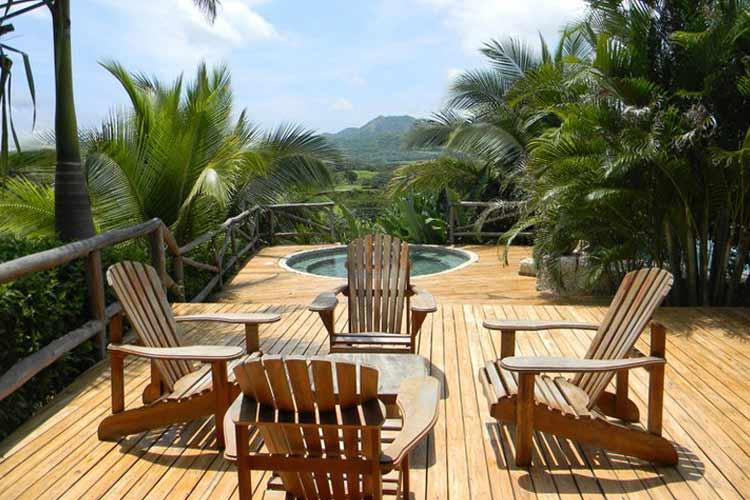 Terrace - El Sabanero Eco Lodge - Tamarindo