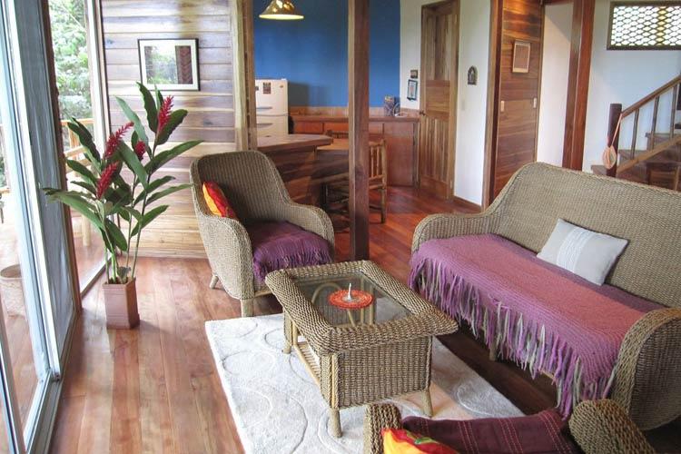 Bungalow Living Room - Samasati - Puerto Viejo de Talamanca