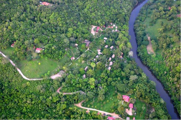 Aerial View - Chaa Creek - San Ignacio
