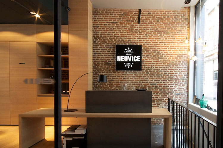 hotel neuvice a boutique hotel in liege boutique reception counter