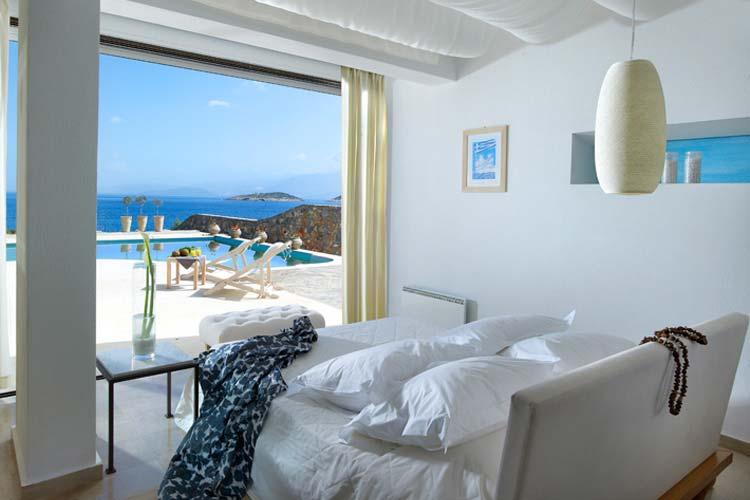 Anemos Master Bedroom - Thalassa Villas - Agios Nikolaos