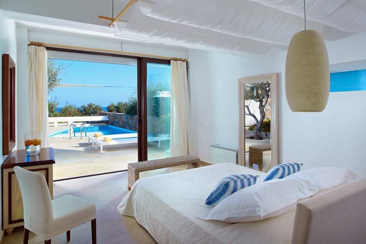 Olives Master Bedroom - Thalassa Villas - Agios Nikolaos
