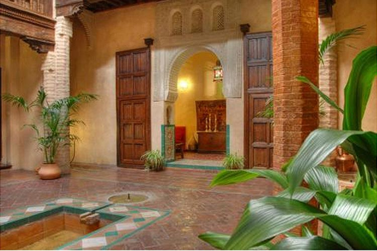 Courtyard - Hotel Casa Morisca - Grenade