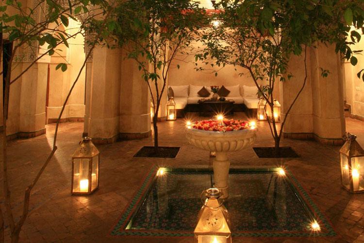 Courtyard - Dar Les Cigognes - Marrakech
