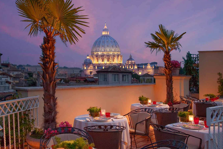 Hotel raphael relais chateaux h tel boutique rome for Small great hotels