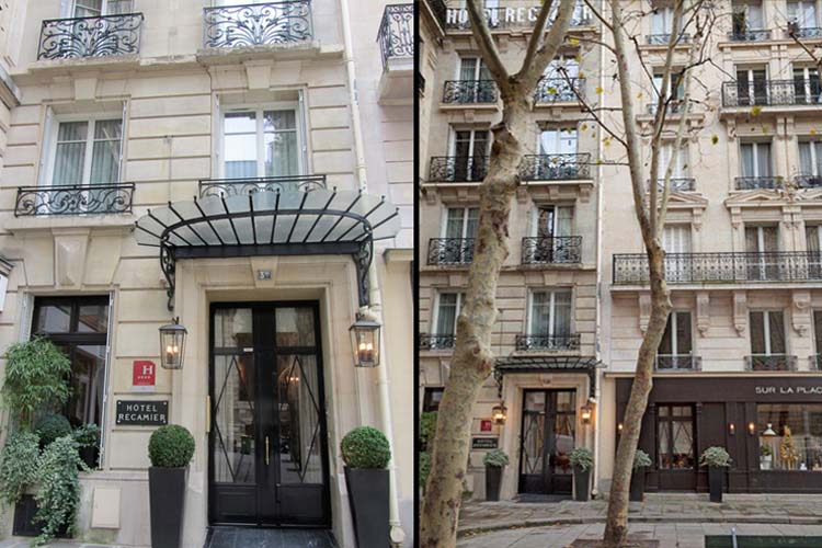 Entrance - Hotel Recamier - Paris