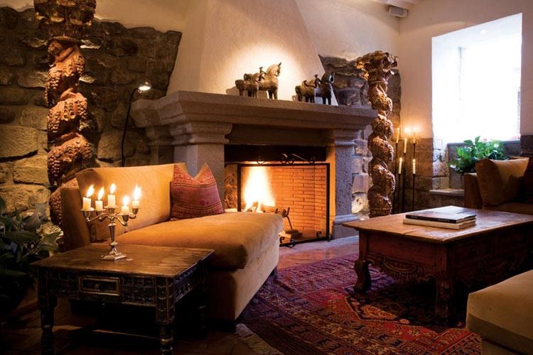 Fireplace Room - Inkaterra La Casona - Cusco