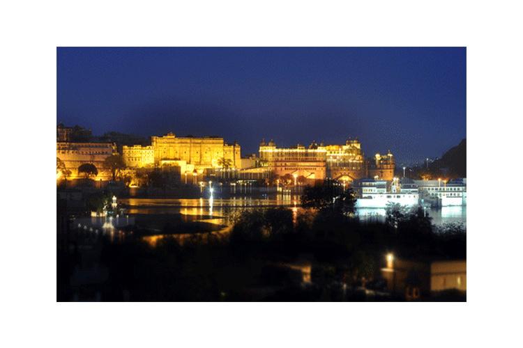 The Views at Night - Chunda Palace - Udaipur