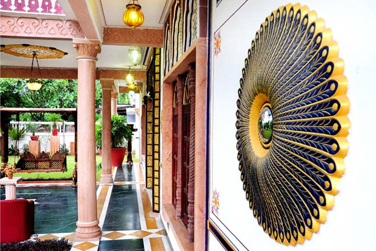 Detail of The Facade - Hotel Vimal Heritage - Jaipur