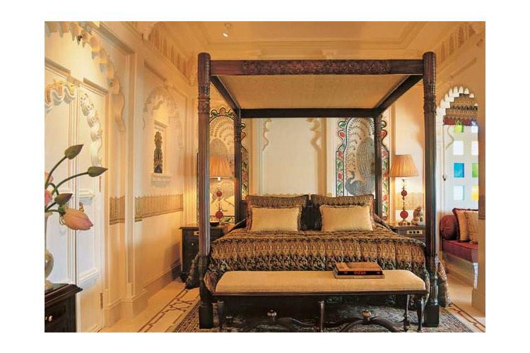 Mayur Mahal Bedroom - Taj Lake Palace - Udaipur