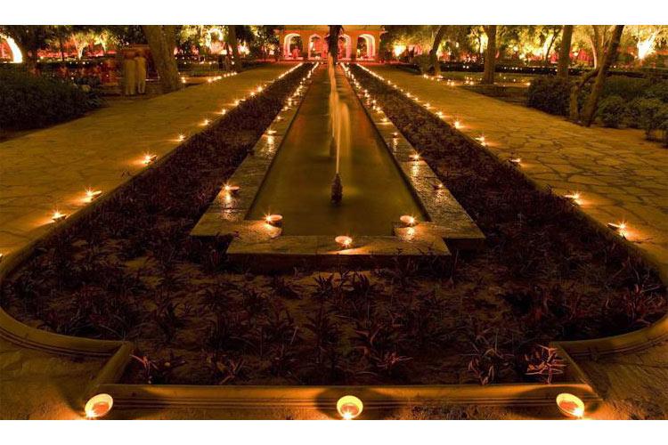 Garden at Night - Samode Bagh - Samode