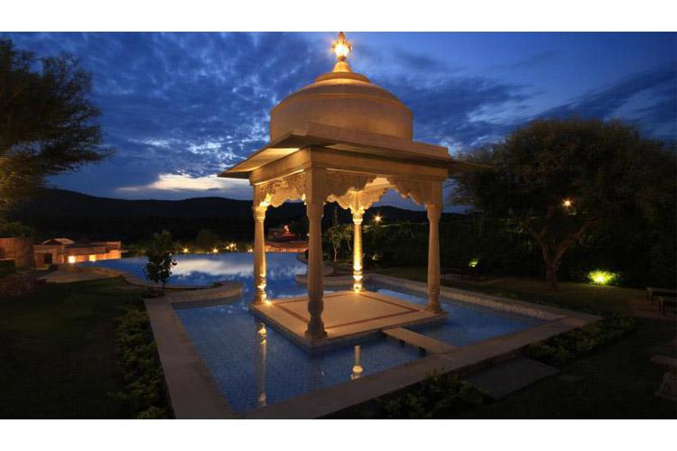 Pool at Night - Tree of Life Resort & Spa - Jaipur