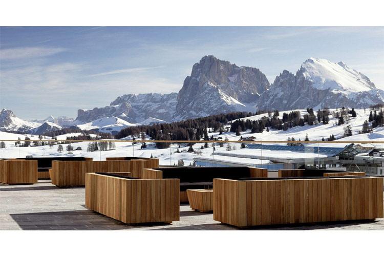 Outdoor Terrace - Alpina Dolomites - Alpe di Siusi