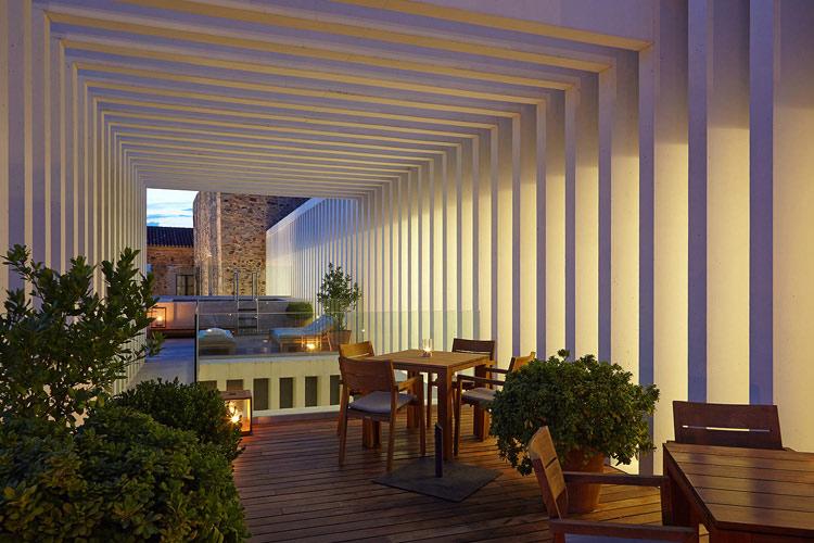Terrace - Atrio Restaurante Hotel - Cáceres