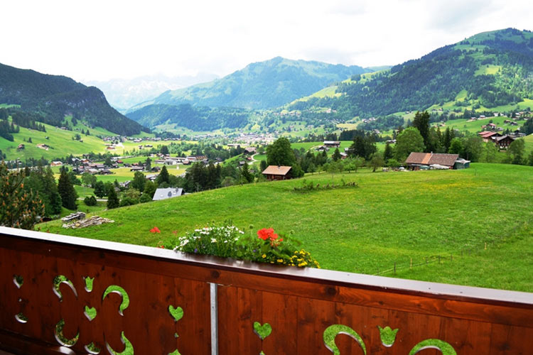 View from the Suites - Hotel le Grand Chalet - Gstaad